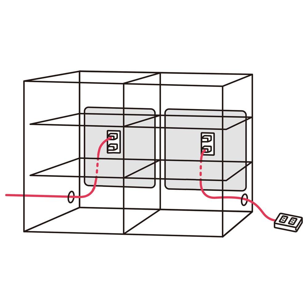 アルダーカウンター下収納庫(奥行23cm) 幅120高さ87cm コード穴は側面の両側面にあります。 コード穴から出して天板に電話を置くなど便利に使えます。