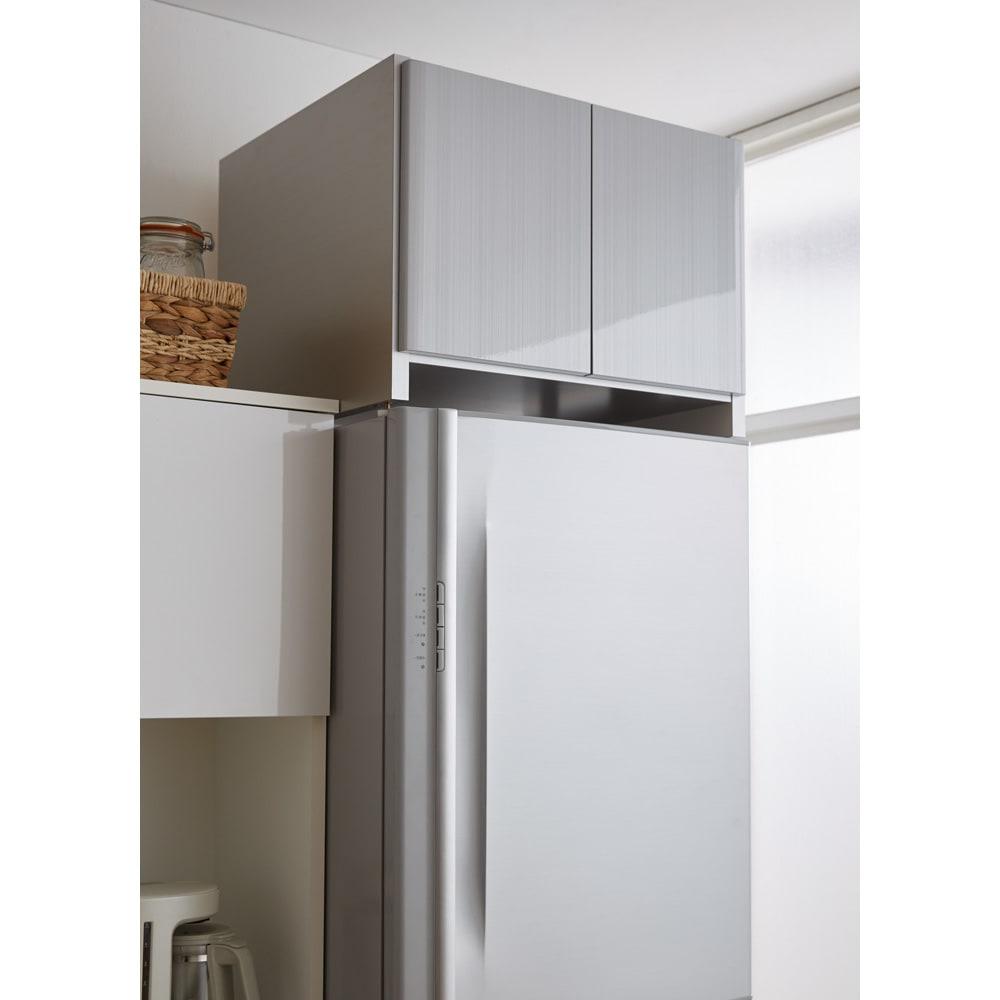 光沢仕上げ冷蔵庫上置き 奥行35.5高さ45.5cm
