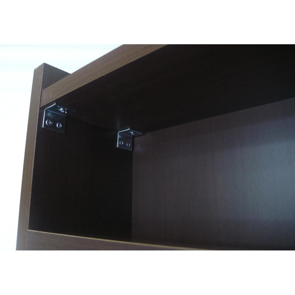 組立不要!52サイズ・3色の156タイプから選べる頑丈すき間ワゴン 幅25奥行45cm 固定棚板と側板をL字金具でしっかり支えながら、収納スペースはしっかり確保