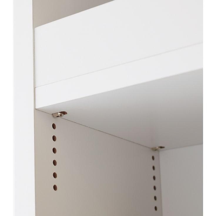 組立不要!52サイズ・3色の156タイプから選べる頑丈すき間ワゴン 幅25奥行45cm 1cmピッチで棚板の位置を細かく調節できます。