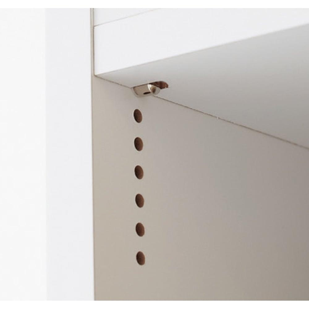 組立不要!52サイズ・3色の156タイプから選べる頑丈すき間ワゴン 幅10奥行55cm 1cmピッチで棚板の位置を細かく調節できます。