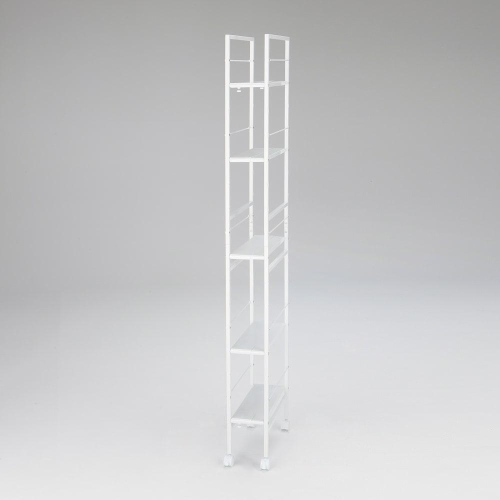 キッチンのすき間にピッタリ 幅伸縮すき間ラック 奥行59.5cm ※写真はスリムタイプ幅17.5cm~26.5cm奥行49.5cmです。