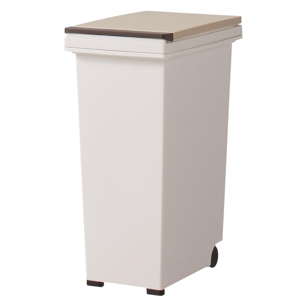 分別ごみ箱付きすき間収納庫 2分別ロータイプ 奥行45高さ85cm ペール容量は1個あたり大容量の15Lです。ペールは取り外して洗えます。