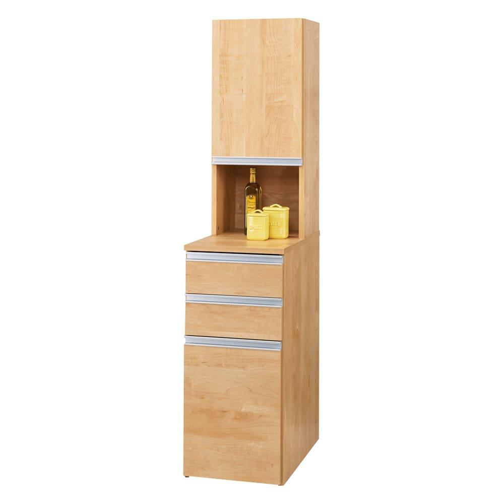 家具 収納 キッチン収納 食器棚 キッチン隙間収納 分別ごみ箱付きすき間収納庫 3分別ロータイプ 奥行61高さ85cm 570014