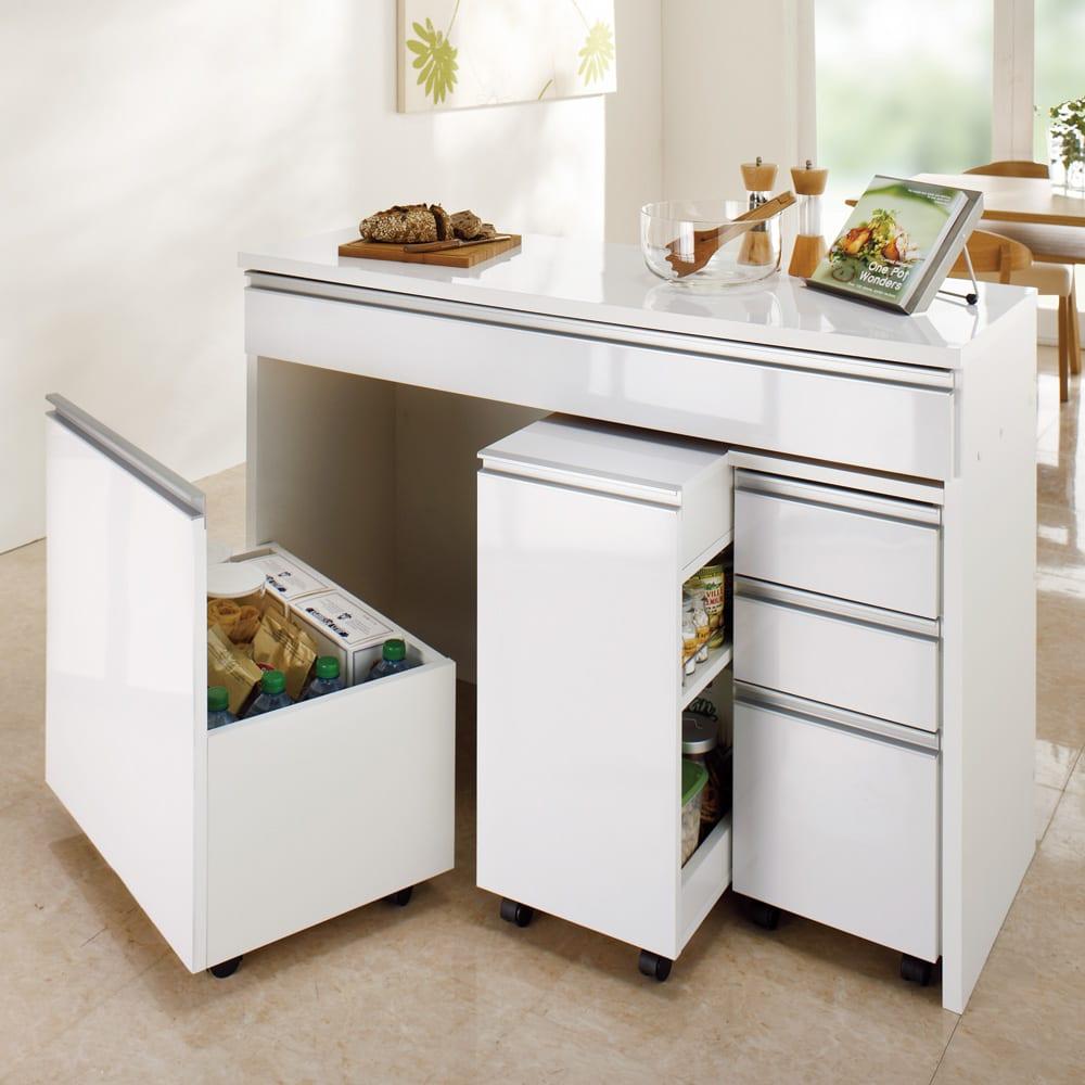 間仕切りキッチンカウンター スリムワゴン 幅29.5cm ※お届けはスリムワゴンのみです。