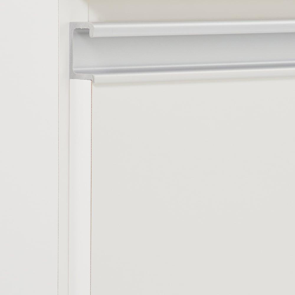 組立不要 スライド天板キッチン収納 引き出し 幅53.5cm (イ)ホワイト