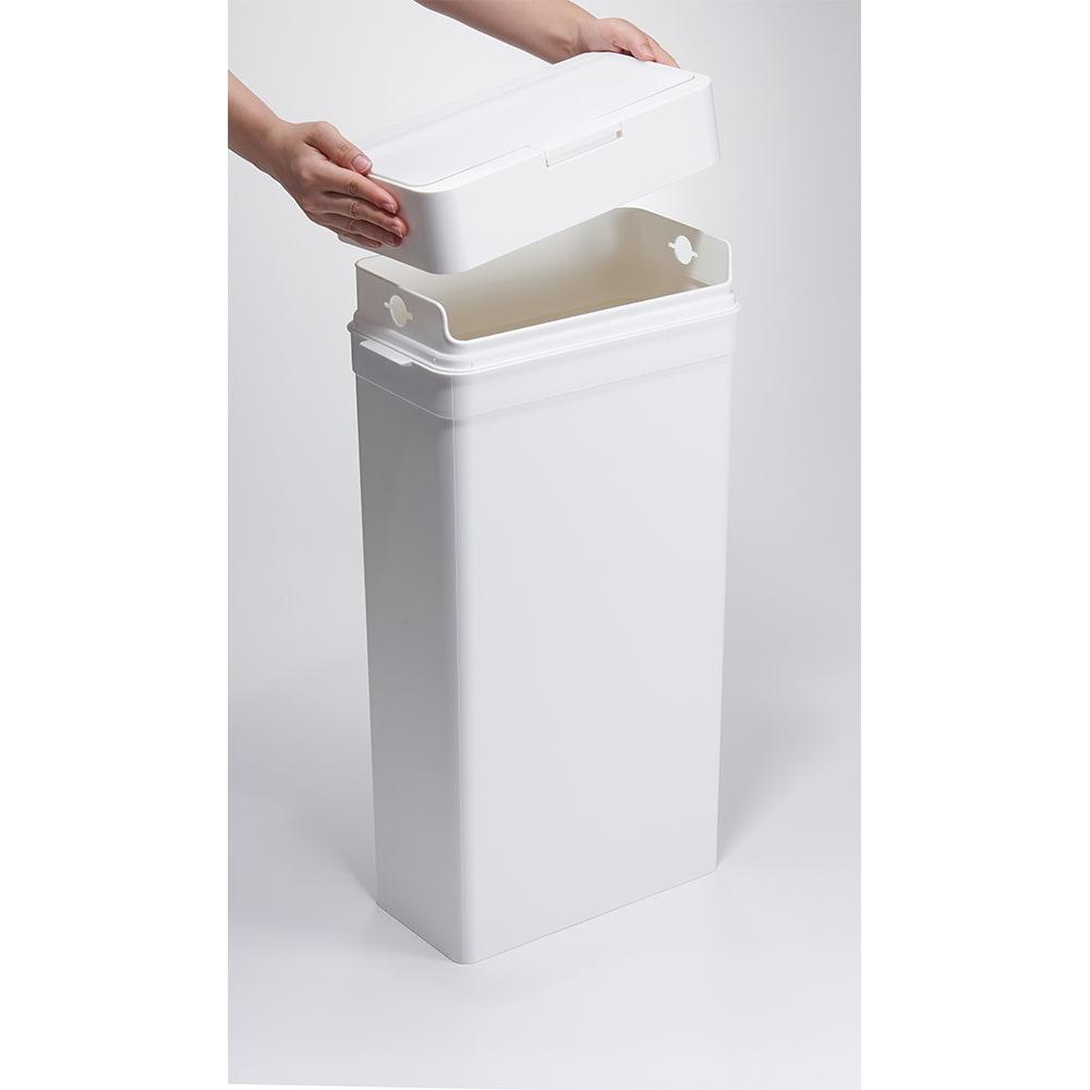 Seals(シールズ) ダストボックス 25リットル 【ゴミ袋セット方法 1】 上部のフタを外します。
