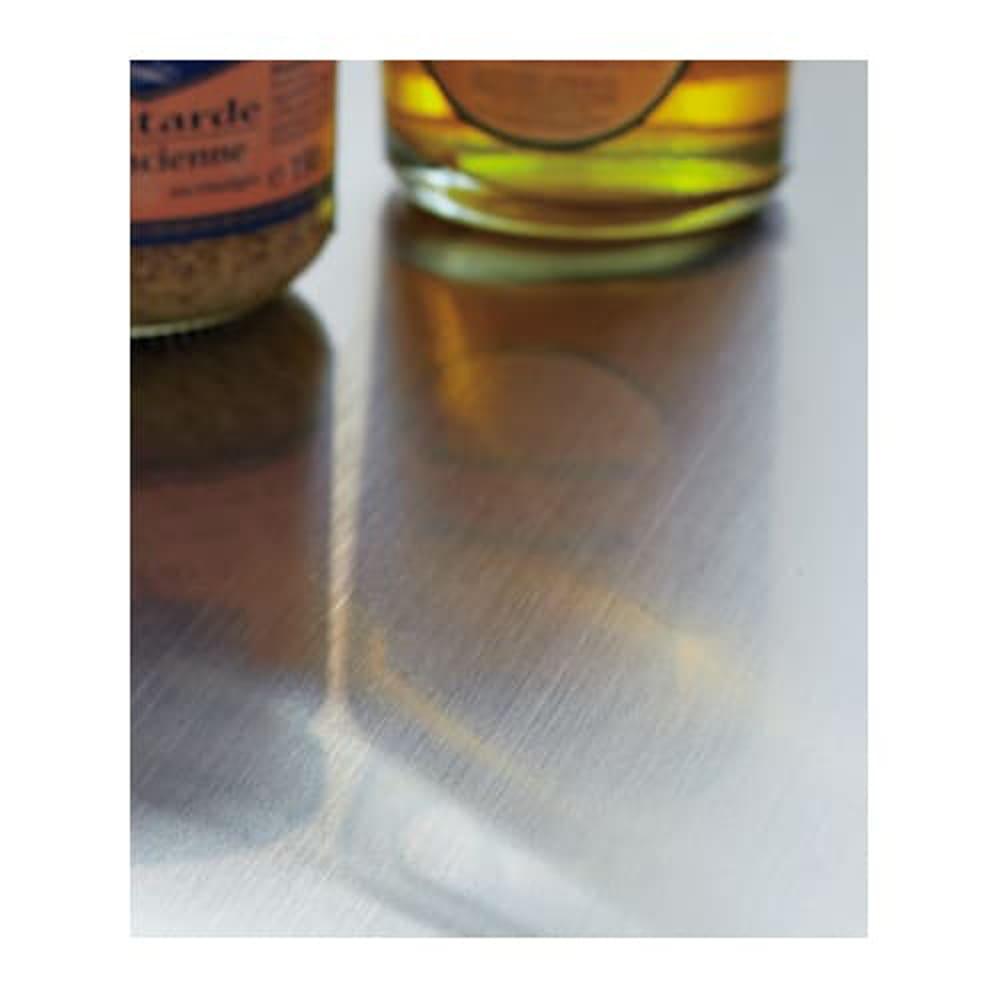 ステンレス天板 分別スウィングステーション(ダストボックス) 3段 ステンレス天板は汚れや水も簡単に拭き取れるのでいつも清潔です。