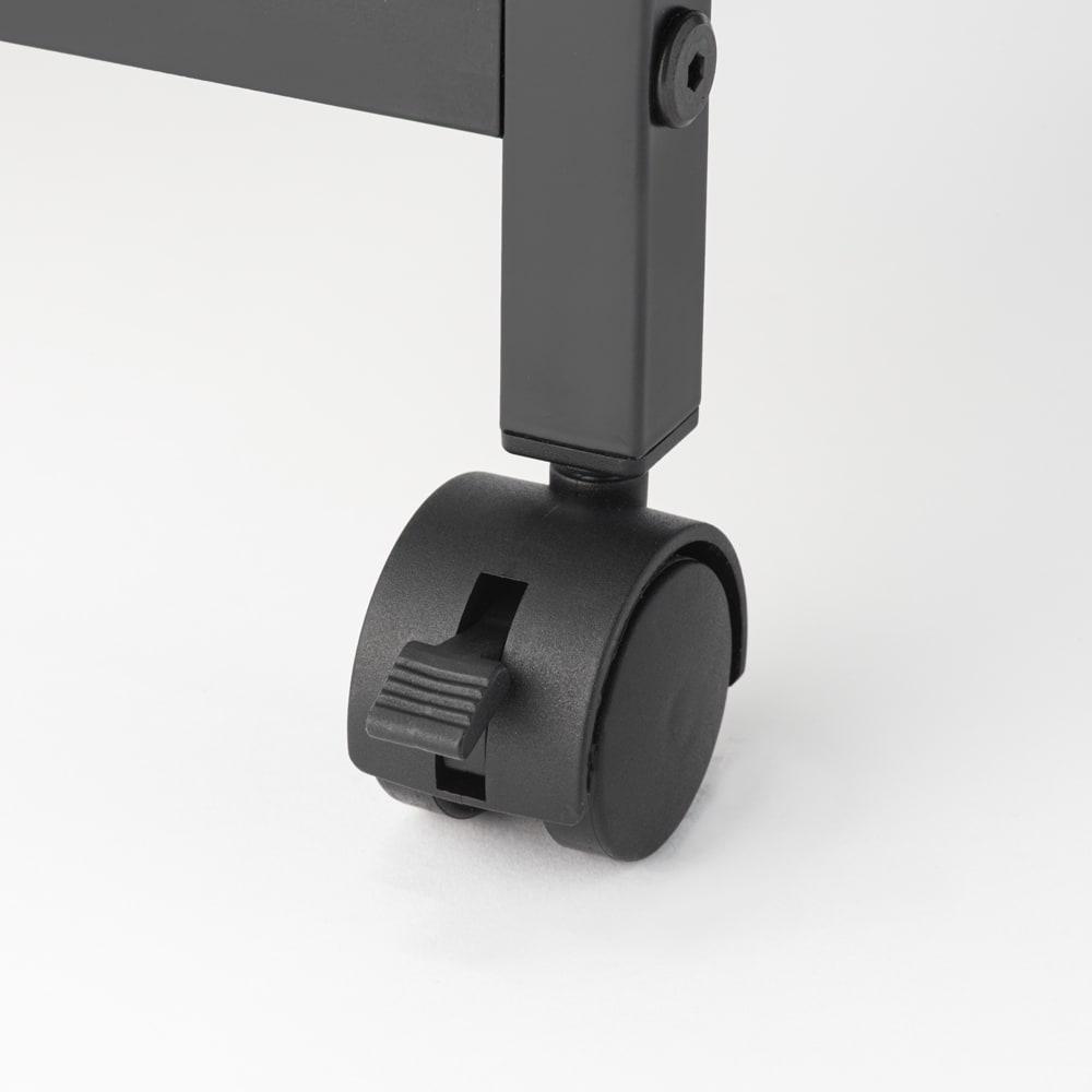 広がる調理台付き 多段キッチンストッカー 幅72cm(天板伸長時 幅120cm) キャスター仕様で移動がラク。うち3個は天板上で作業するときには固定できるストッパー付きです。