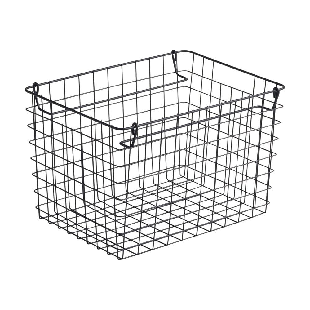 カフェスタイルランドリーラック バスケット単品 2個組 (ア)ブラック