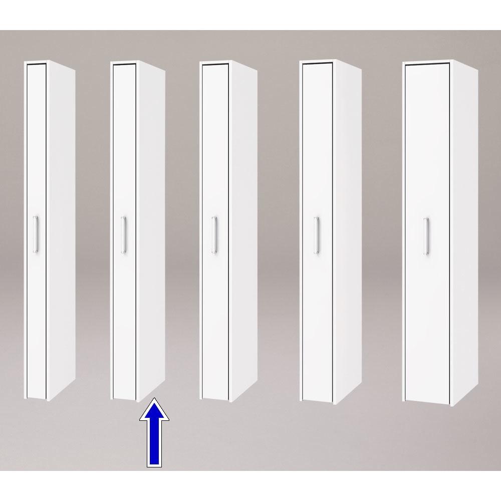 ボックス付きリバーシブル すき間収納庫 幅17奥行47cm シリーズは幅15、17、19、21、29cmの5タイプ 5サイズから選べます。 ※写真は奥行47cmタイプホワイト面使用時です。