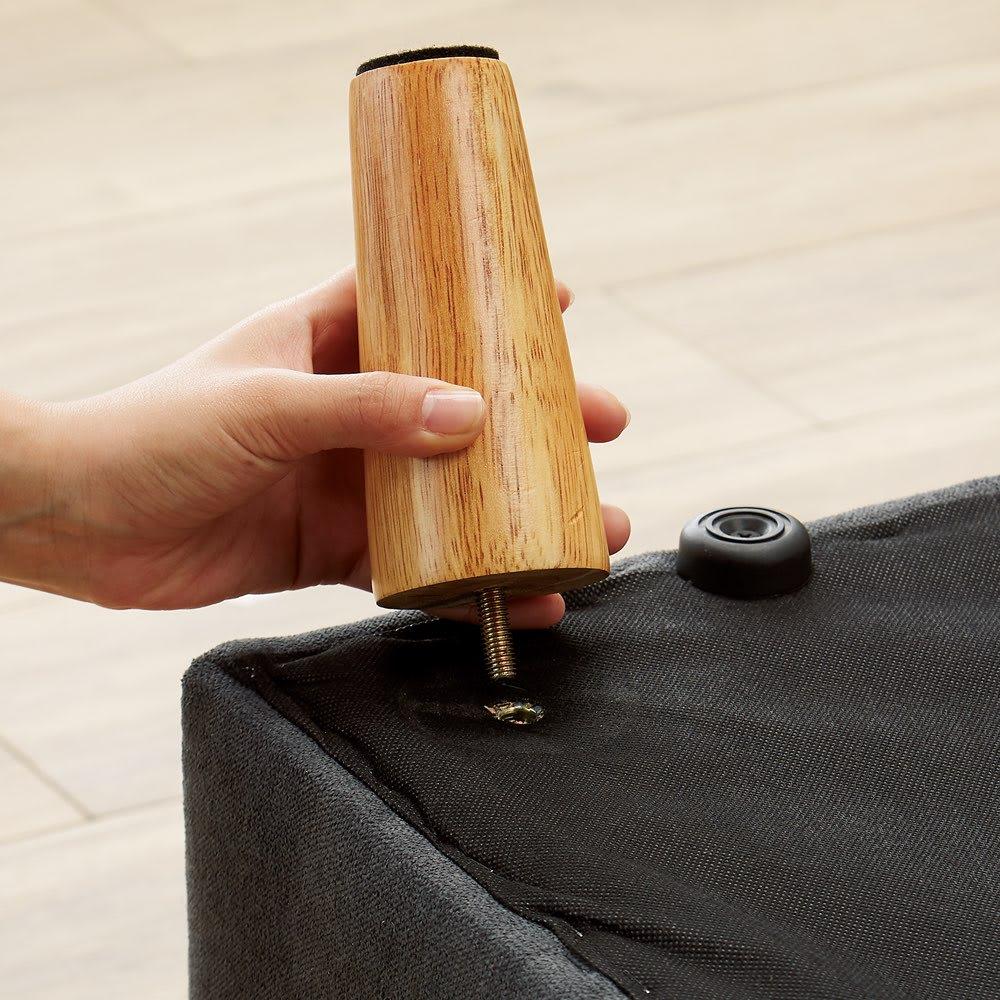 欲しい形を選べて、くつろげるコーナーカウチソファ 3点セット 脚を取り外してローソファにも。