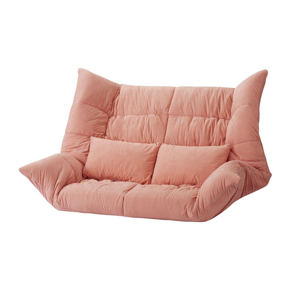 お好みスタイルが自在に!洗えるカバーリング マルチリクライニングソファ スーパーハイバックソファ (イ)ピンク