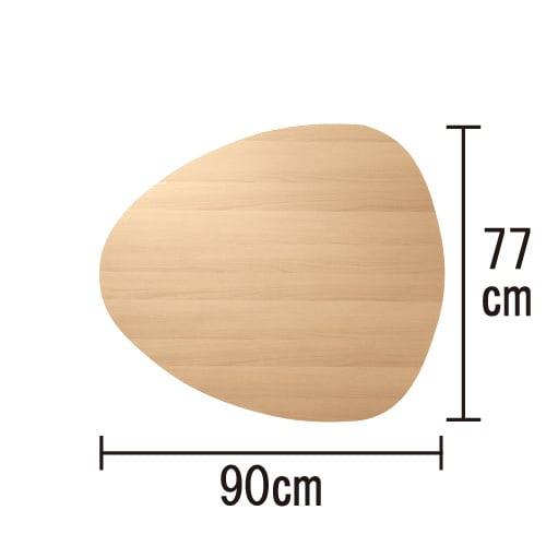 折れ脚フロアテーブルエッグ 幅90cm サイズ詳細 (イ)ナチュラル