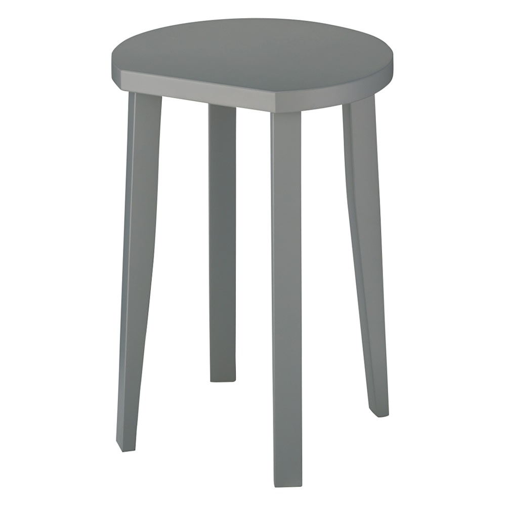 直線があるからピタッとフィット!北欧モダンな丸型サイドテーブル 幅40cmタイプ(ア)グレー PC15インチまで対応。