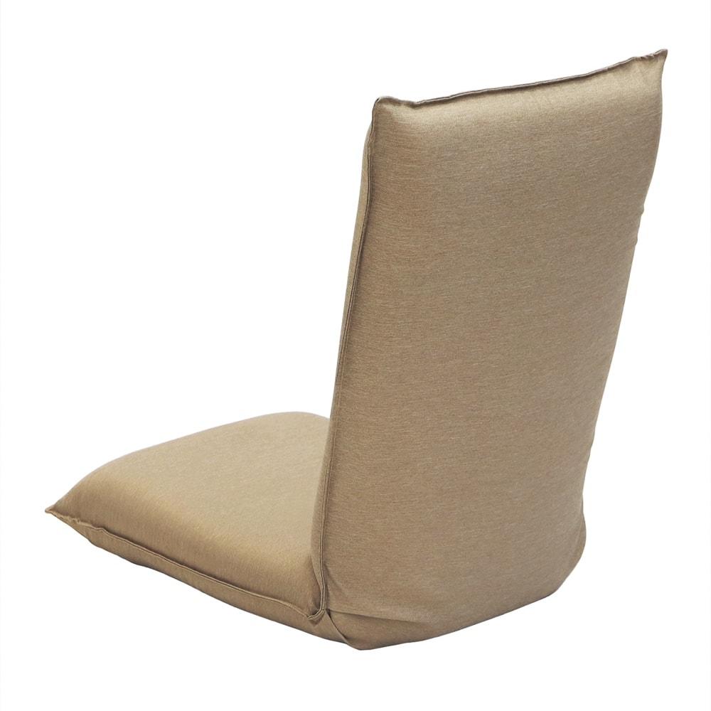 サイズを選べる 腰にやさしいリラックスチェアⅢ 洗えるカバー付き (ウ)ベージュ 背面
