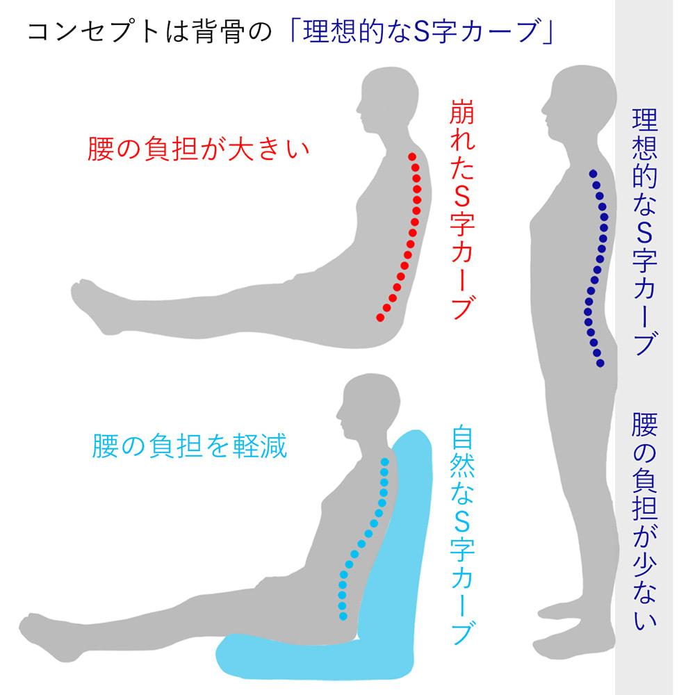 サイズを選べる 腰にやさしいリラックスチェアⅢ 洗えるカバー付き