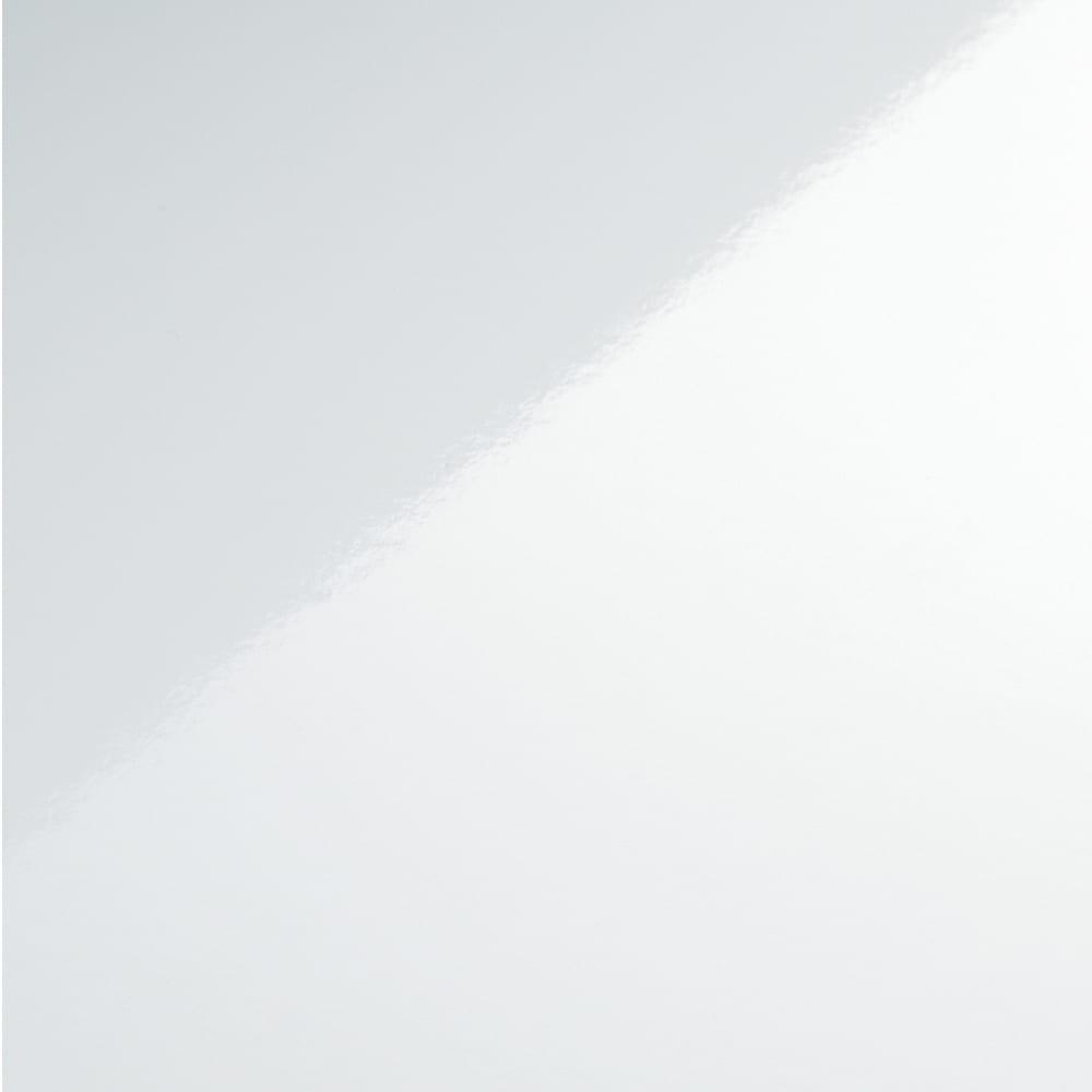 折りたたみできるスマートスタイルテーブル 120×59cm (ア)ホワイトは美しい輝きの光沢仕上げ。