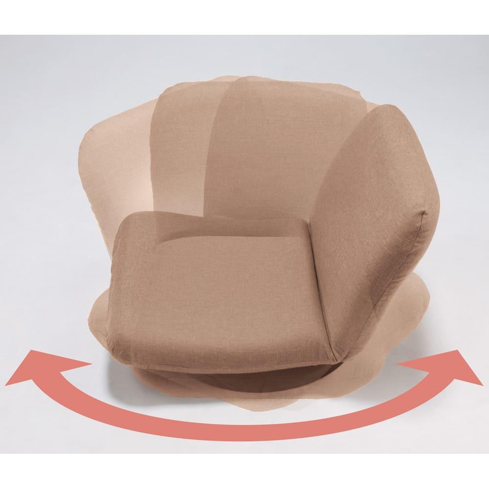 特許を取得した腰に優しい回転座椅子 ロータイプ 【ポイント】 360度回転式なので立つすわりがラクに行えます。