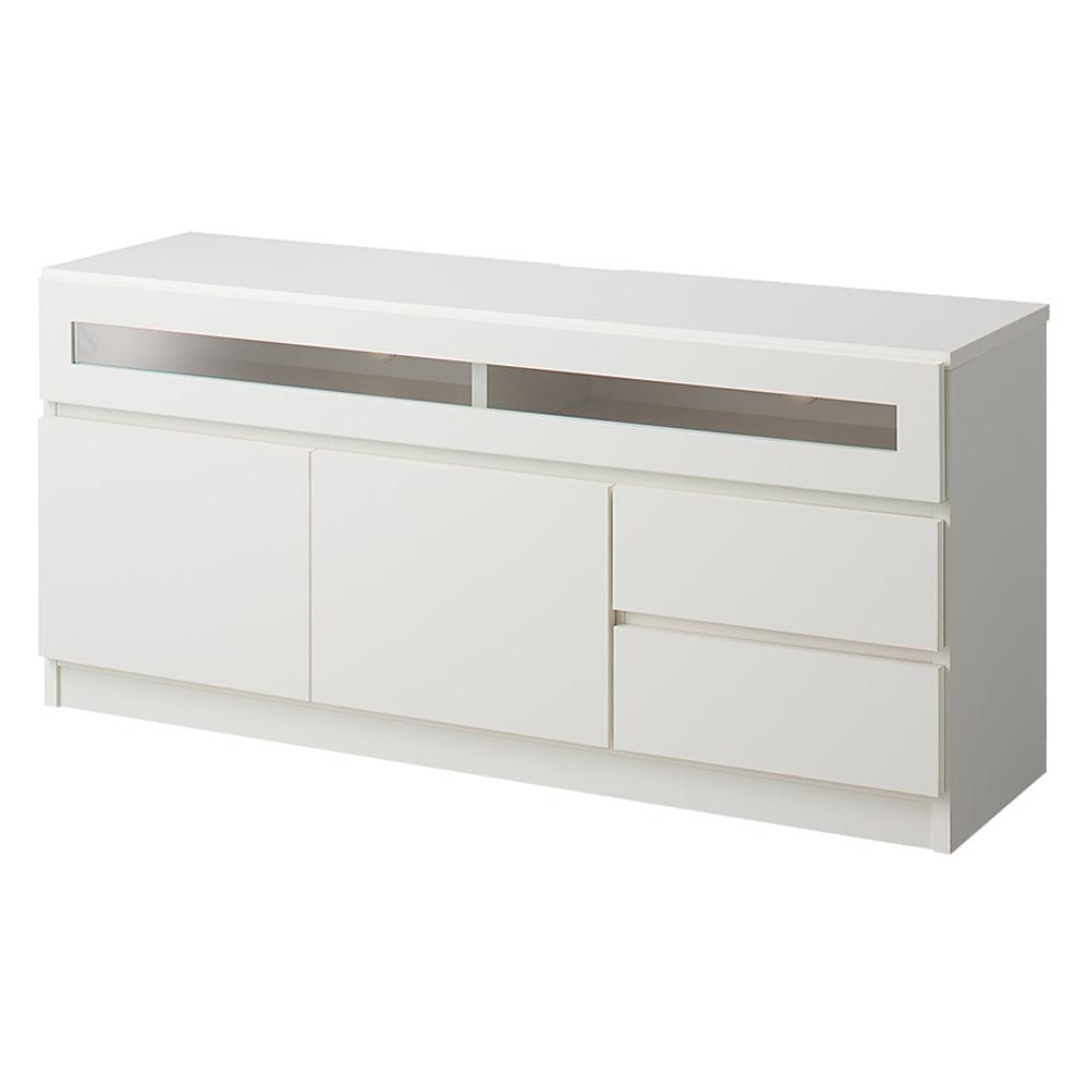 【完成品・国産家具】ベッドルームで大画面シアターシリーズ テレビ台・テレビボード 幅120高さ55cm (ア)ホワイト
