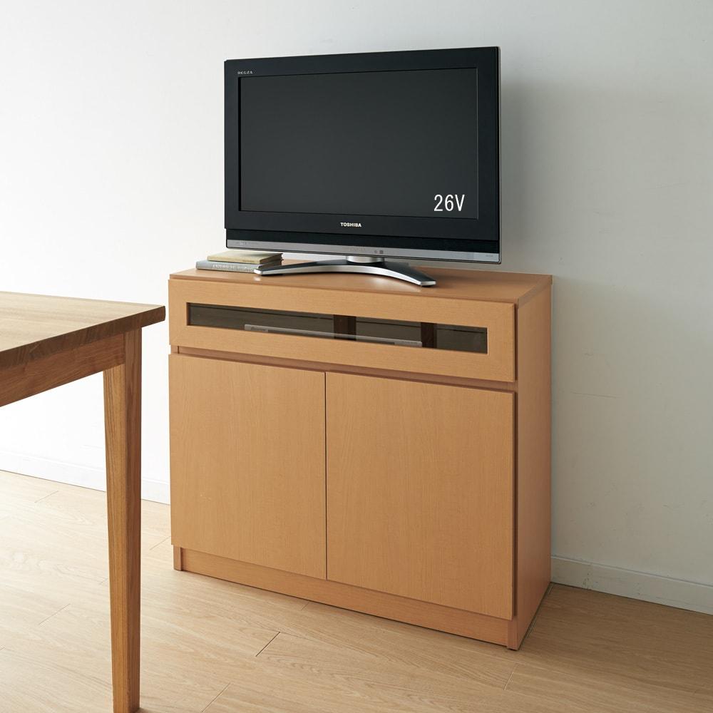 【完成品・国産家具】ベッドルームで大画面シアターシリーズ テレビ台・テレビボード 幅105高さ70cm ダイニングからちょうどよい高さの70cm。 ※写真のテレビ台は幅80高さ70cmです。