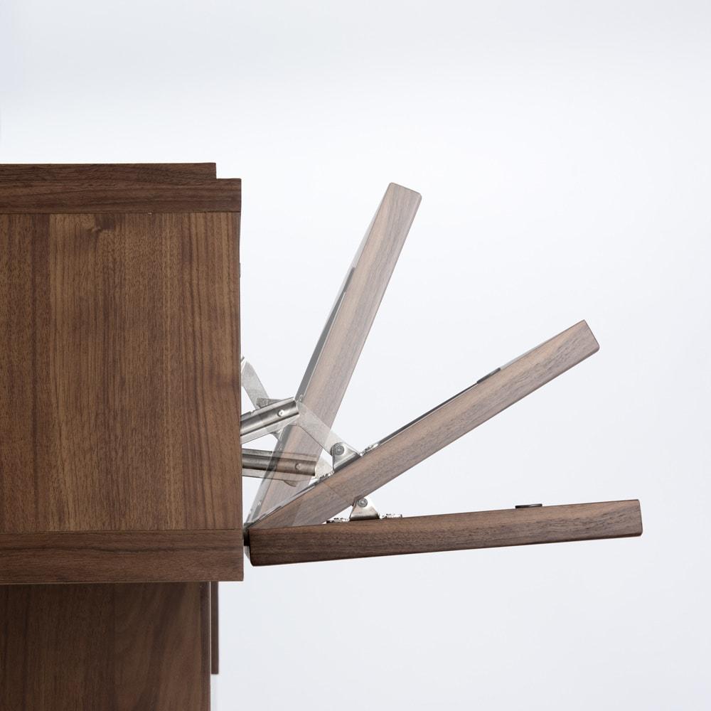 大画面対応ウォルナット天然木テレビ台シリーズ テレビ台・テレビボード 幅180cm 扉はゆっくり開閉するソフトダウンステー。