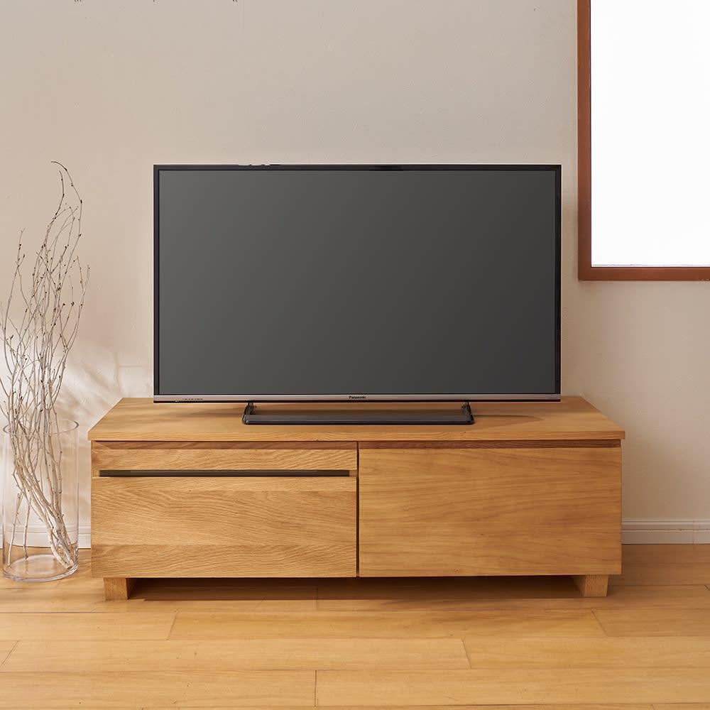 オーク天然木北欧風 テレビ台・テレビボード 幅120cm