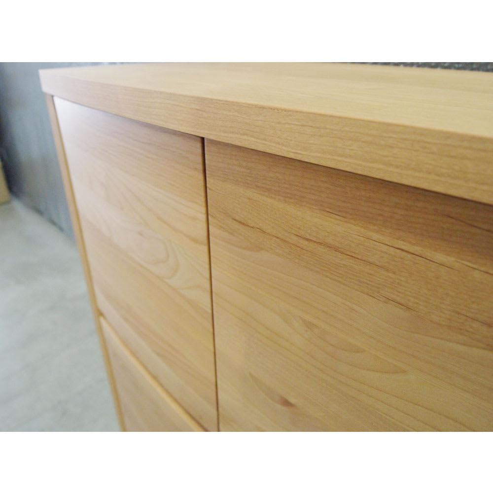 アルダー天然木アールデザインテレビ台シリーズ キャビネット 幅85高さ89.5cm