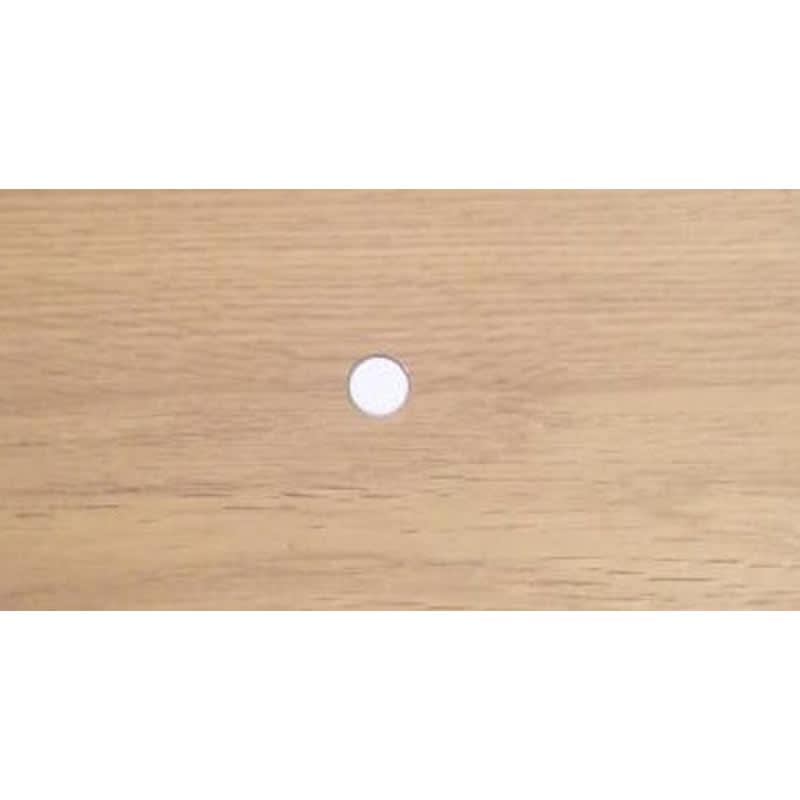伸長式デスク&キャビネット 幅77.5~137cm ※天板キャップはホワイトです。
