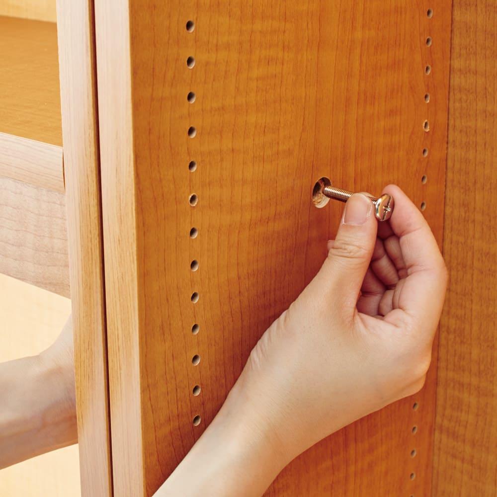 本好きの為のデスクシリーズ デスク本体 幅60cm デスクとシェルフはボルトで横連結できます。