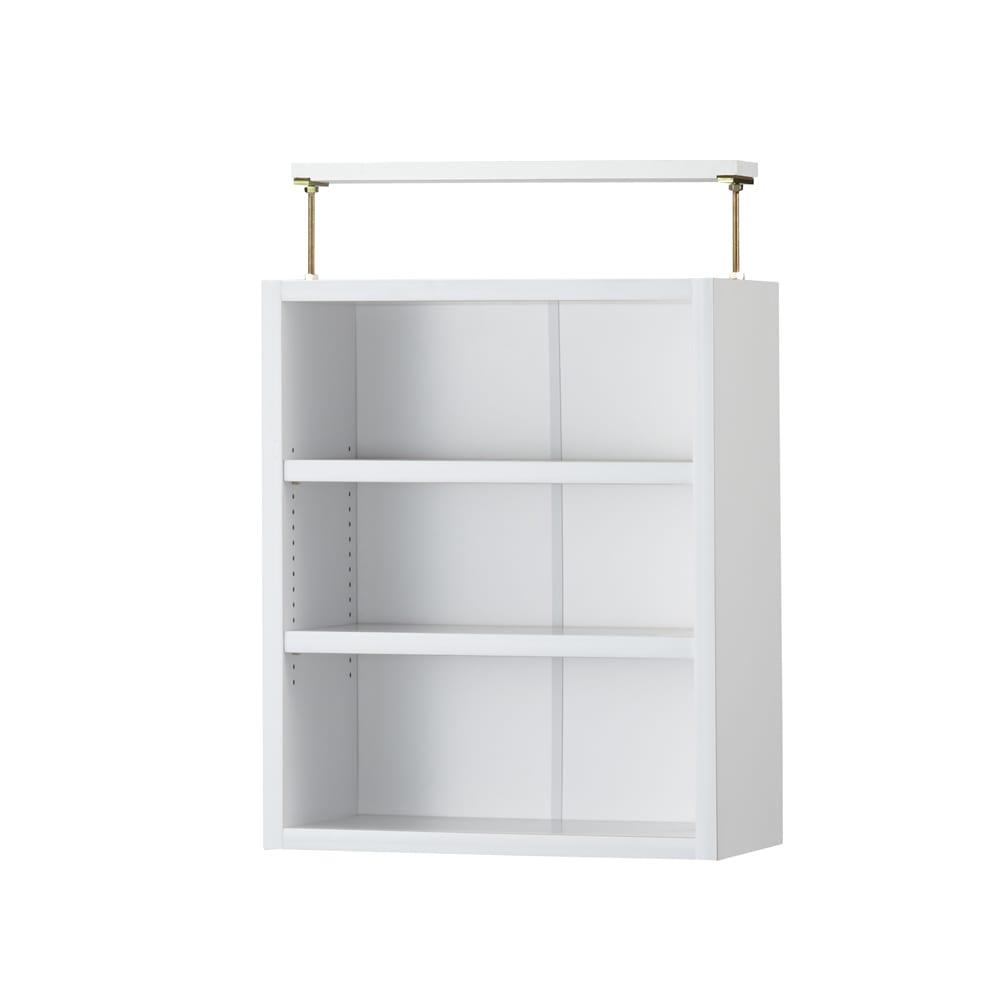 本好きの為のデスクシリーズ 上置き・シェルフ用 幅30cm (ア)ホワイト※上置きの棚板も1cmピッチで調整できます。