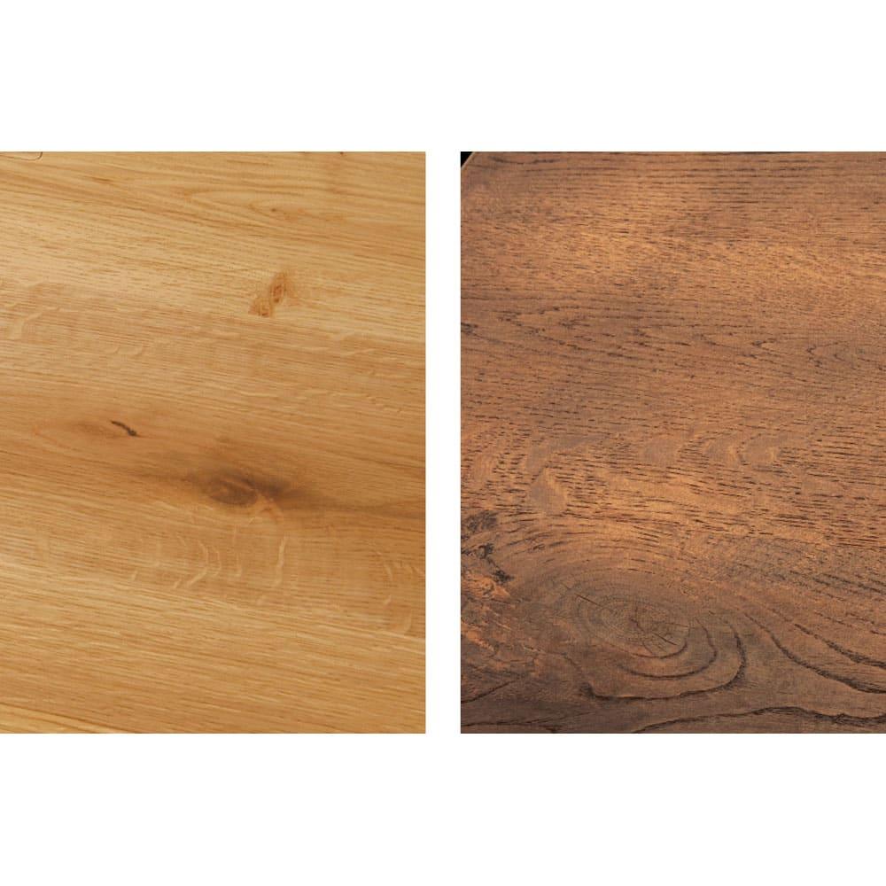 北欧カントリー風 ウッドPCデスクシリーズ デスク・幅180cm 自然のままの木目とナチュラルな色合いが魅力。使い込むほどに味わいが増し、時と共に愛着も深まります。※左から(ア)ナチュラル(イ)ダークブラウン