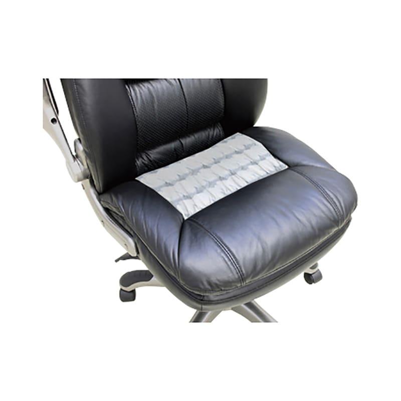 本革張りポケットコイル 肘掛け跳ね上げ式オフィスチェア 本革の張り地で、リッチな座り心地に