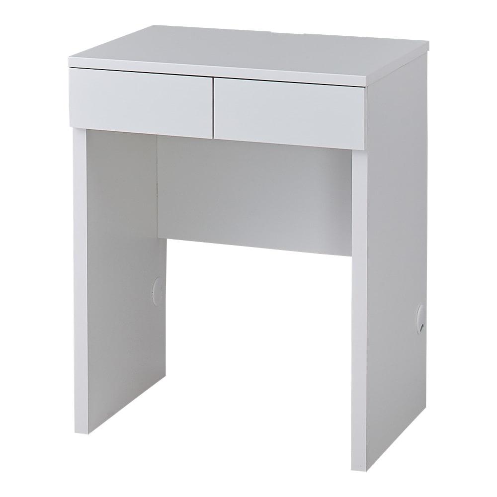 配線すっきり幅オーダーデスク 幅60~150cm(1cm単位オーダー) (ア)ホワイト(光沢あり):清潔感があり、どんなお部屋にもすっきりなじみます。