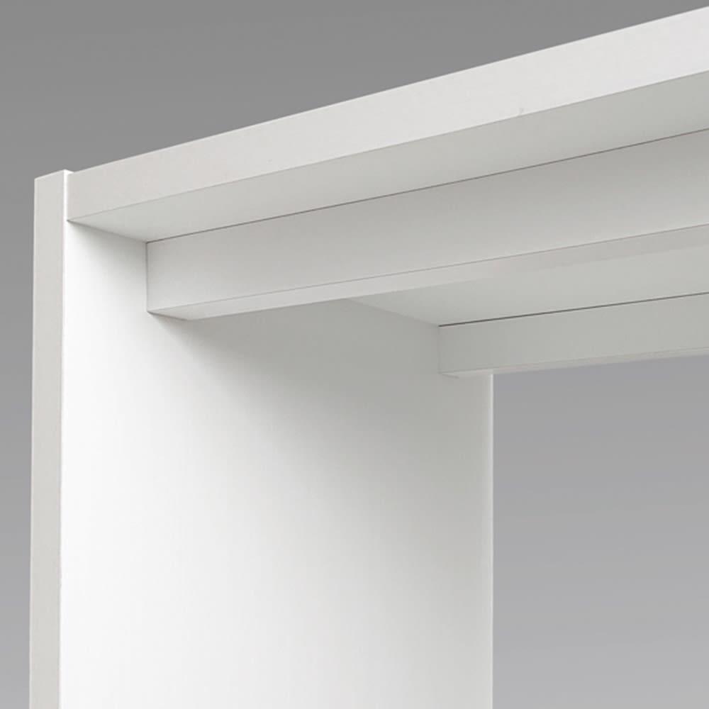 幅1cm刻みのサイズオーダーデスク 幅60~180cm奥行45cm高さ70cm 天板の下を幕板で補強しています。サイズにより仕様は異なります