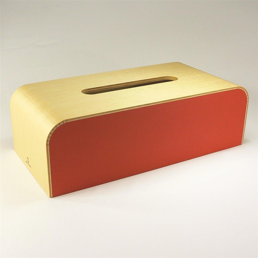 カラーボックス 北欧調ティッシュケース (オ)オレンジ