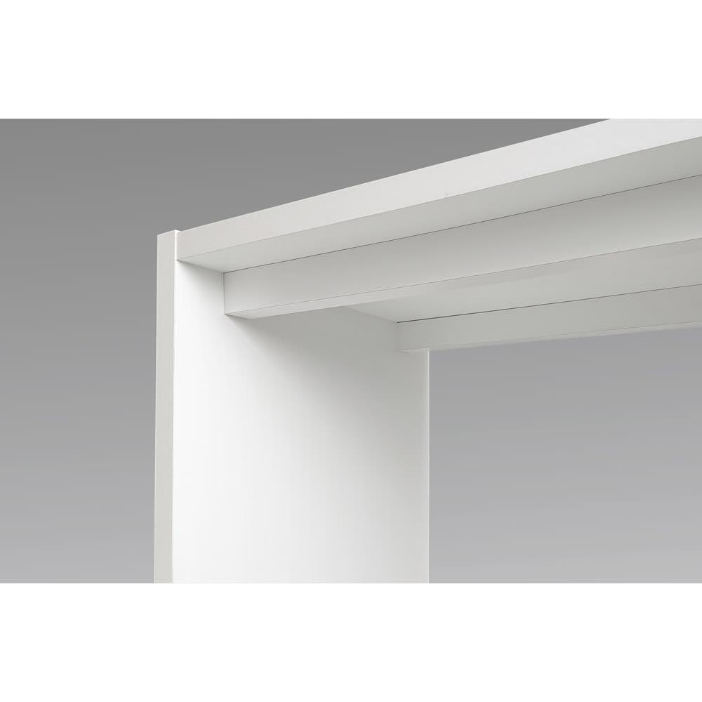 幅1cm刻みのサイズオーダーテーブル 幅60~180cm奥行30cm高さ50cm 天板の下を幕板で補強しています。サイズにより仕様は異なります