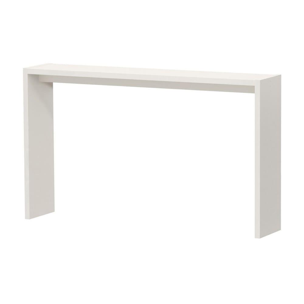 幅1cm刻みの幅サイズオーダーハイテーブル 幅60~180cm 奥行30cm高さ88cm (ア)ホワイト