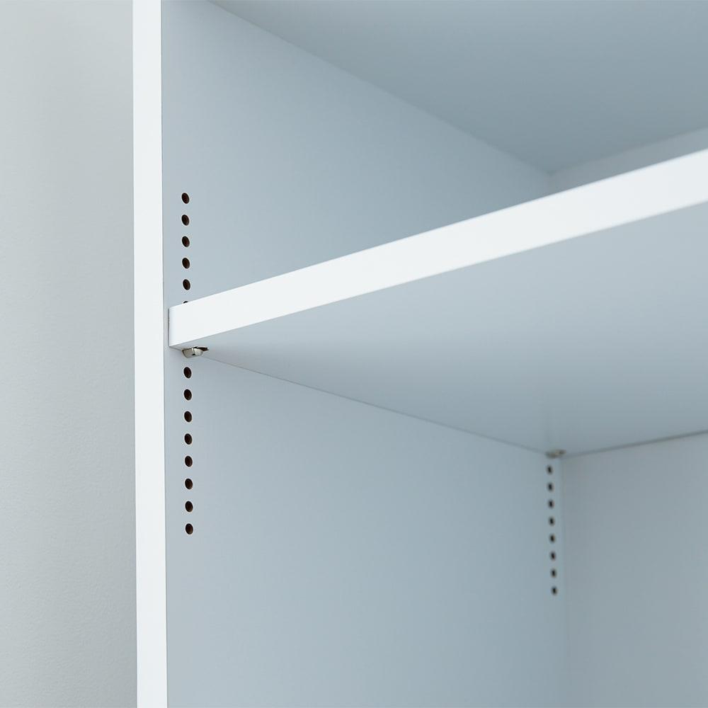 幅が選べるデスクサイドラック 幅24奥行60cm 棚板は1cmピッチで高さ調節可能。可動棚板サイズ:幅22奥行54.5cm
