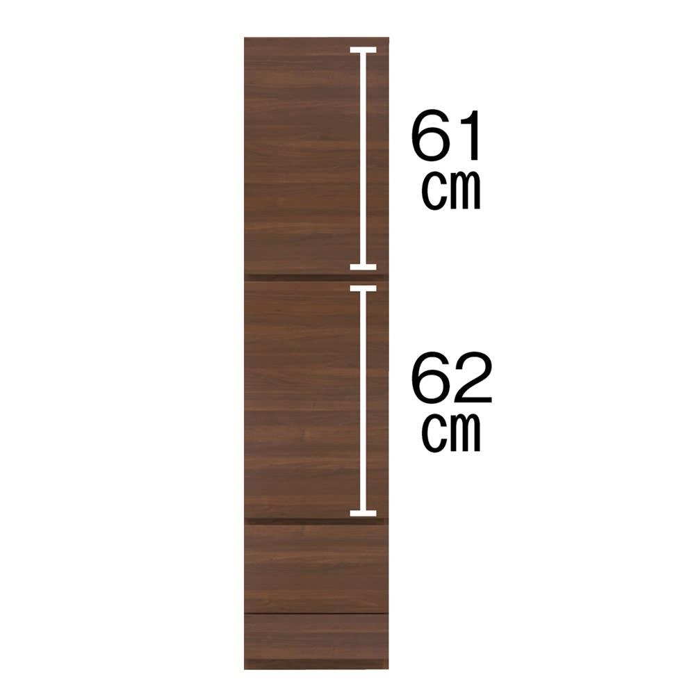 【パモウナ社製】使いやすさを考えた美しいシステム収納 扉+引き出し収納庫 幅40cm (ウ)ウォルナット ※お届け時「左開き」。「右開き」にも付け替えられます。