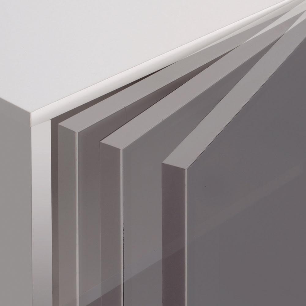 【パモウナ社製】使いやすさを考えた美しいシステム収納 扉+引き出し収納庫 幅60cm 扉にはゆっくり静かに閉まる、高品質ダンパーを装着。