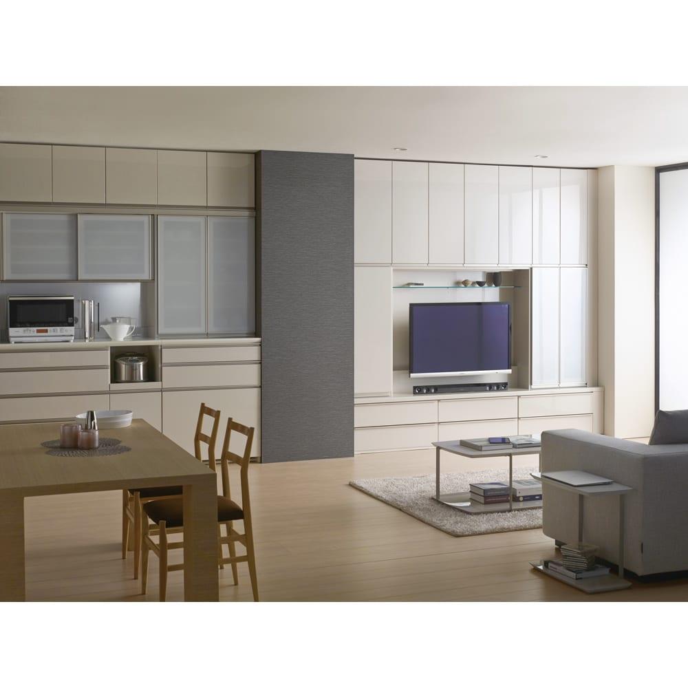 新システム収納用壁掛けテレビ金具 設置イメージ