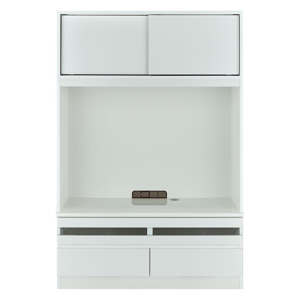 狭い場所でも収納たっぷり引き戸壁面収納シリーズ テレビ台 幅120.5cm (ア)ホワイト