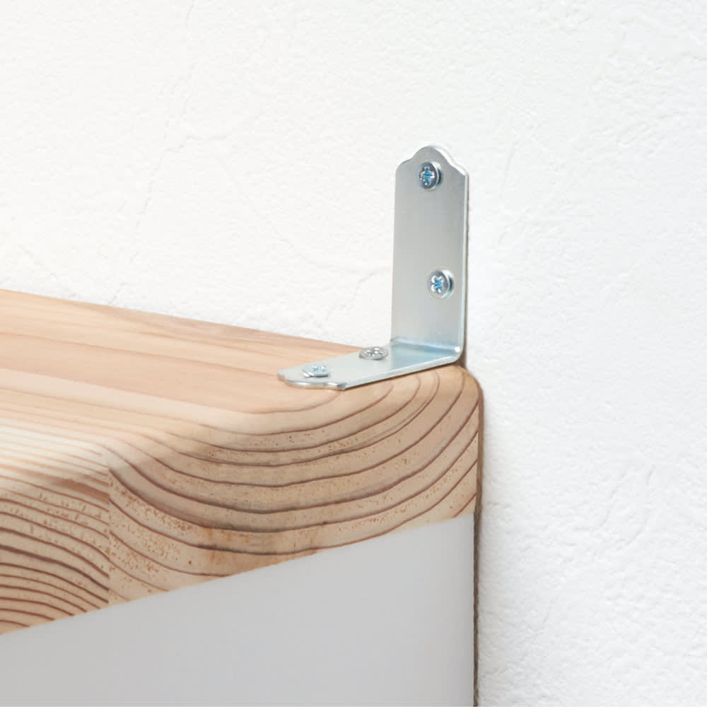 国産杉 1cmピッチ頑丈シェルフ 幅100奥行19本体高さ93cm 付属の転倒防止金具をご使用ください。