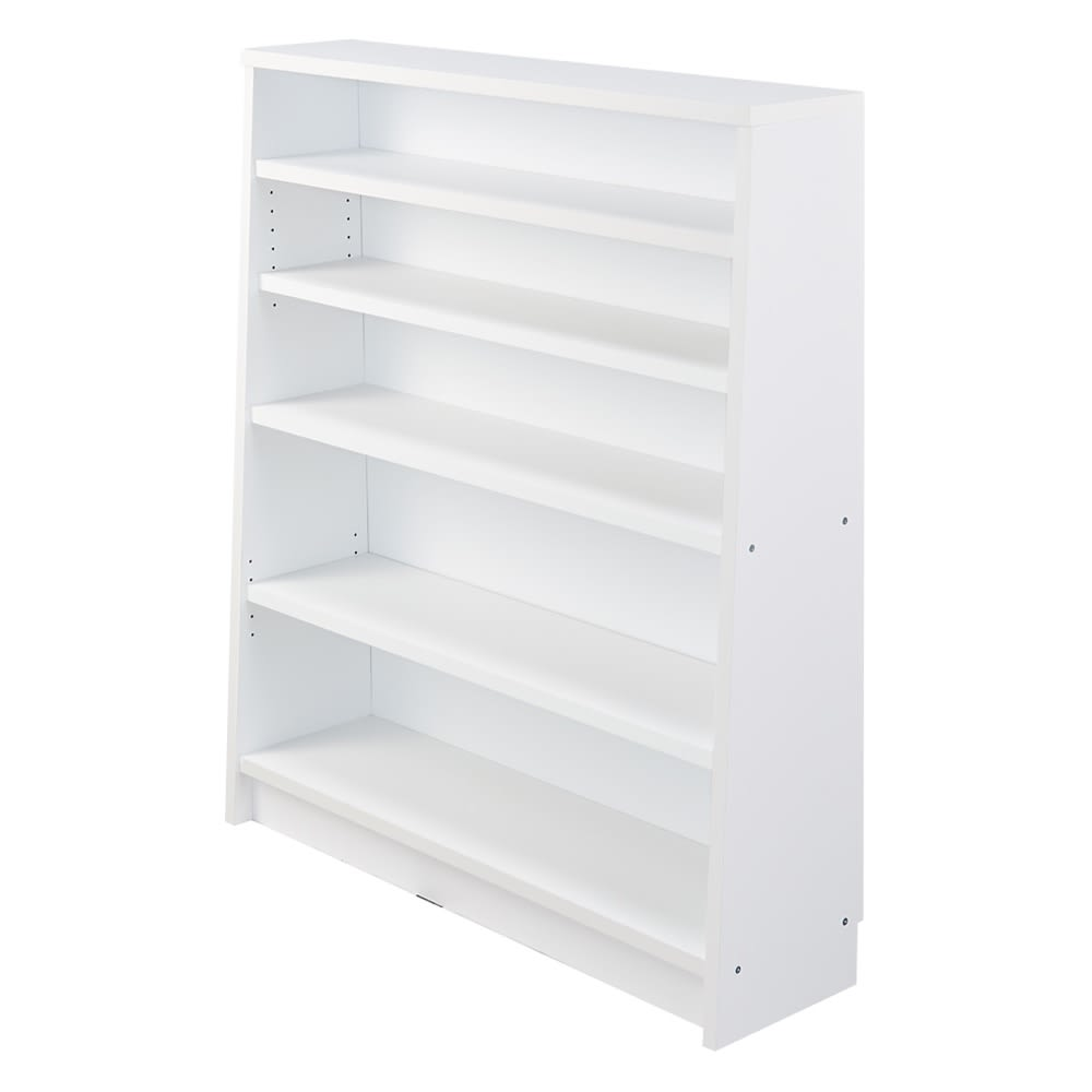 家具 収納 本棚 ラック シェルフ CDラック DVDラック 棚板頑丈 薄型タワーシェルフ(書棚・本棚) 幅110cm奥行22~29.5cm高さ124cm 572360