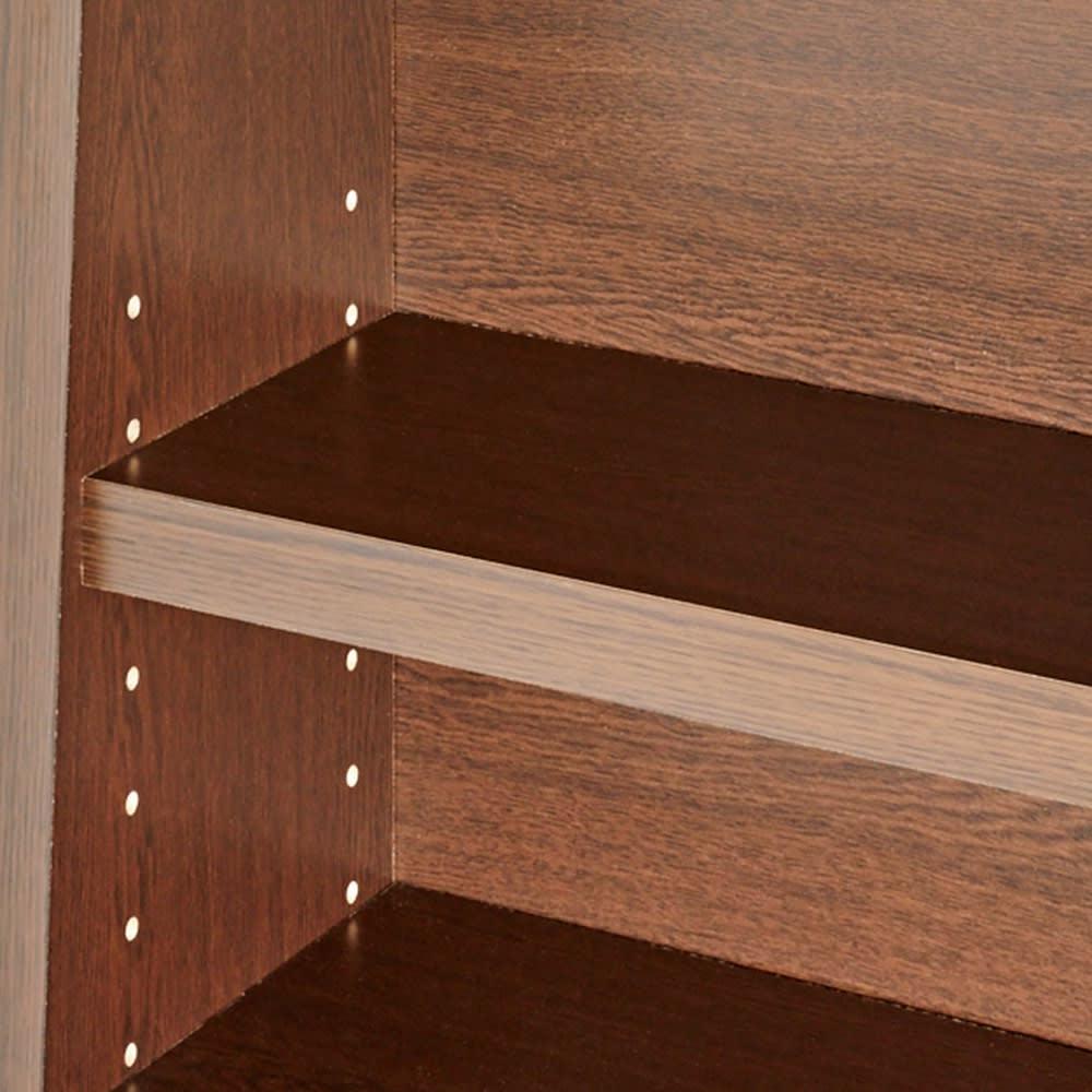 棚板頑丈 薄型タワーシェルフ(書棚・本棚) 幅50cm奥行18.5~29.5cm高さ180cm 3cm間隔で高さが調節できる可動棚。
