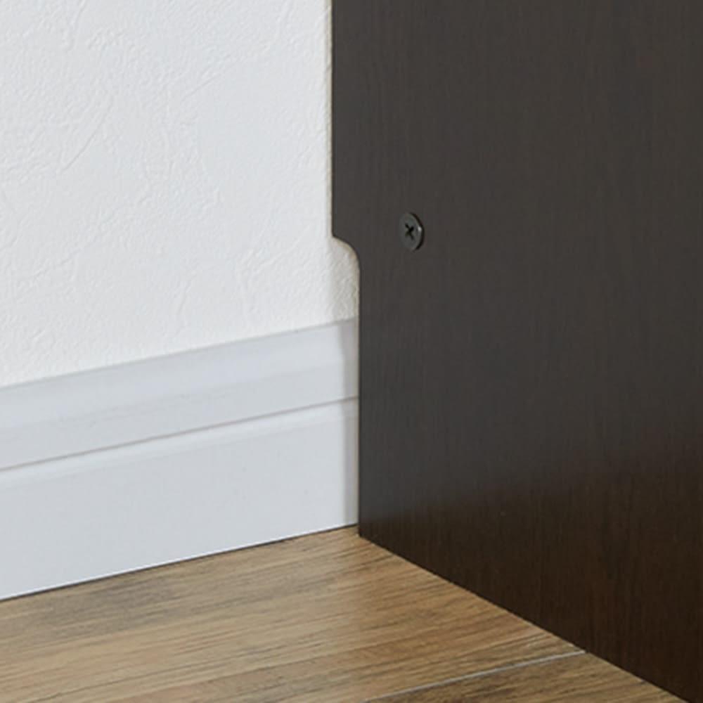 棚板頑丈 薄型タワーシェルフ(書棚・本棚) 幅50cm奥行18.5~29.5cm高さ180cm 幅木対応で壁にぴったり設置可能。
