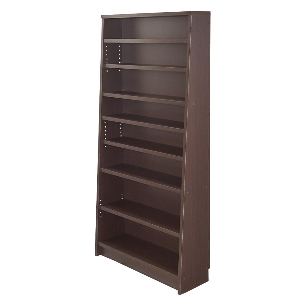 家具 収納 本棚 ラック シェルフ CDラック DVDラック 棚板頑丈 薄型タワーシェルフ(書棚・本棚) 幅90cm奥行18.5~29.5cm高さ180cm 572363