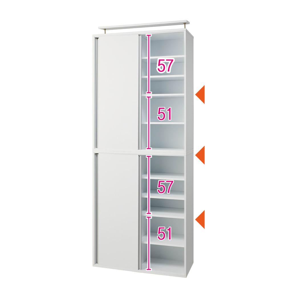 大量収納が自慢の引き戸式本棚 幅90本体高さ228cm 奥行40cm ※内寸(単位:cm)
