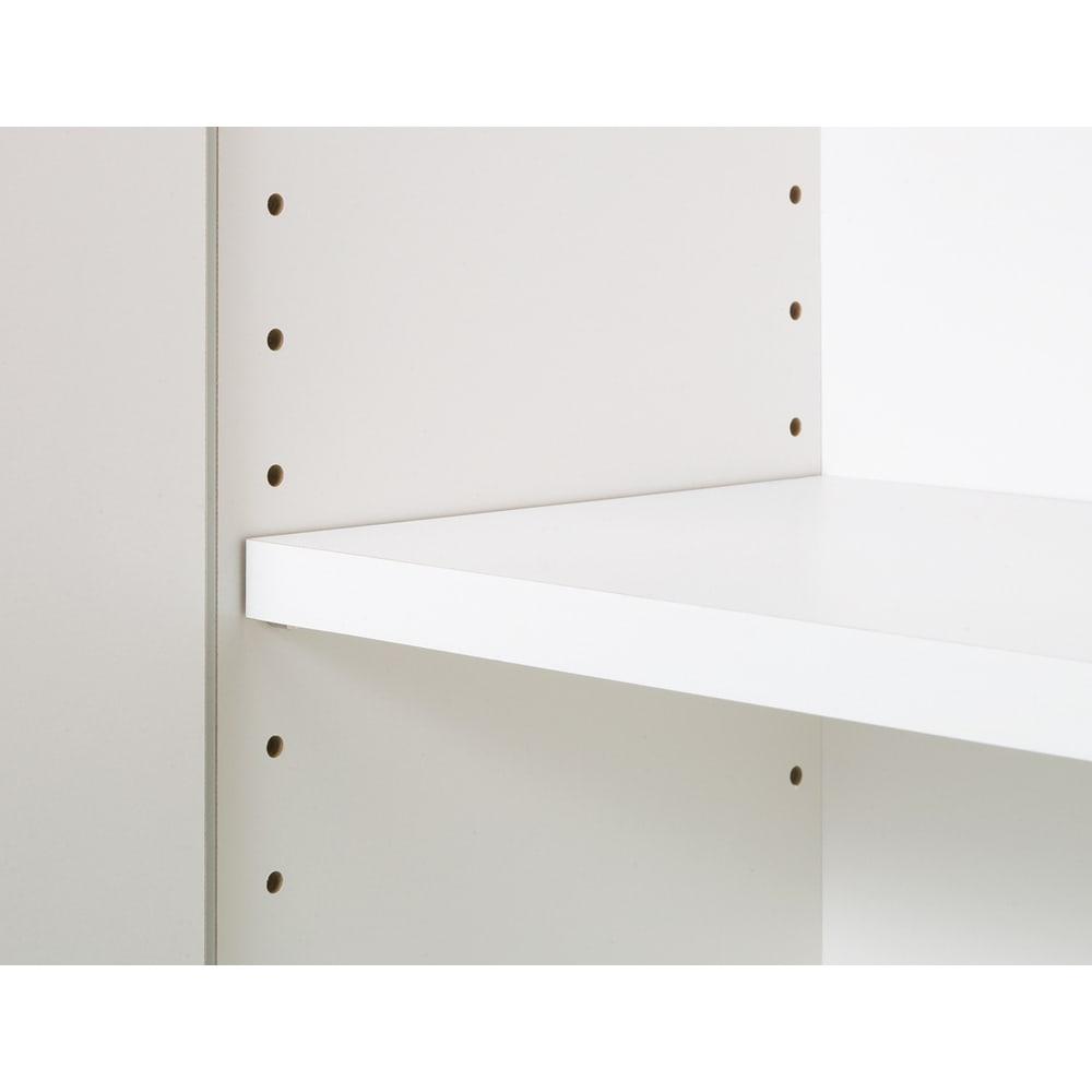 【幅60cm】 突っ張り壁面収納本棚 (奥行45cm本体高さ230cm) 棚板は3cmピッチの可動式。